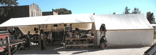 Pair-o-Dice Mercantile Tent Drygoods Store (1800s California Gold Rush Style)