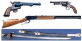 19th and early 20th Century Weapons. Rifles, muskets, carbines, pistols, revolvers, swords and sabres.