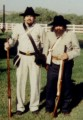Two of the Los Angeles Confederate Infantry Reenactors, Wild Wild West - Will Smith, Kevin Kline, Kenneth Branagh and Selma Hayek
