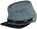 plain Confederate Enlisted Kepi in medium gray