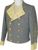 C.S. 2nd Lieutenant's Shelljackit with lapels, American Civil War Uniforms