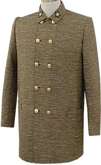 Confederate Officers Sack Coat for Brigadier General, American Civil War Military Uniforms