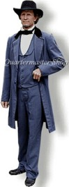 Clothing of C.S. President Jefferson Davis. Cadet Grey Wool (Winter) Frock coat, vest and trousers