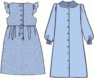 Girls Dress #2B, 19th Century (1800s) Childrens Dresses / Clothing