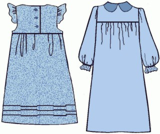 Girls Dress #2C, 19th Century (1800s) Childrens Dresses / Clothing