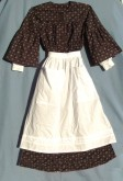 Girls Dress with Half Apron. Victorian & Civil War dresses