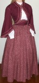 1860s Girls Zouave 3 piece outfit
