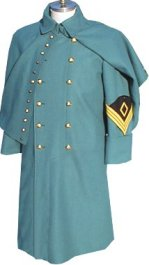 M1872 Enlisted Greatcoat for both foot and mounted - Cavalry, 1st sergeant shown