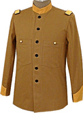 M1884 officer's fatigue blouse, brown canvas duck