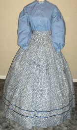 1850s - 1860s Day Skirt and Bodice / Blouse, 19th Century (1800s) Ladies dresses
