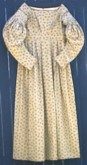 1830's to 1840's Day Dress, front. 19th Century
