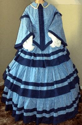 Antebellum Ladies Hoop Dresses