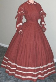 1860s Day or Evening Dress, 19th Century (1800s) Ladies Dresses