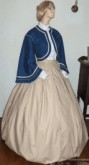 1860s Girls Zouave 3 piece outfit - blouse, skirt and jacket, 19th Century (1800s) girls clothing