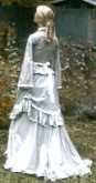 Ladies 1870s Day or Evening Bustle Dress