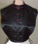 Ladies 1870s Day or Evening Bustle Dress of Silk Upholstery material, Bertha