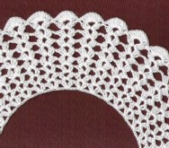 Crochet Collar #1, 19th Century (1800s) Ladies Dresses