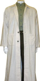 Linen Duster / 1910 Car Coat, 19th Century (1800s) Men's Clothing