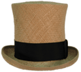 High Topper in straw, 19th Century (1800s) Men's Hat