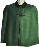 Civilain Cape in Dark Green with Frogs, 19th Century (1800s) Men's Clothing