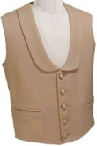 Civilain Single Breasted Shawl Collar Vest, 19th Century (1800s) Men's Clothing