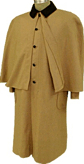 Civilian Greatcoat (Overcoat) in Tan, 19th Century (1800s) Clothing
