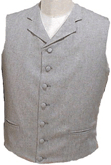 Civilain Notched Collar Vest, 19th Century (1800s) Men's Clothing