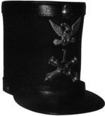 M1833 Officer's Dress Shako (Artillery), except Generals, Mexican War
