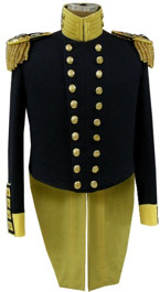M1833 Officer's Dress Tailcoat, except Generals, Mexican War