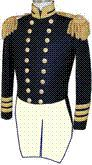 U.S. Naval Officer's Full Dress Tailcoate Coat for Captains: Front