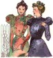1890s Side closing Bodices pattern by Past Patterns, #207 & 208