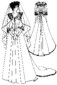 1882-1888 Bustle Wedding Gown with Cathedral Train pattern by Past Patterns, #303