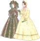 1850-1867 Gathered Fitted Bodice pattern by Past Patterns, #700, 701 & 702