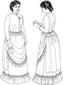 circa 1883-1884 Three Piece Ensemble (Bodice, Skirt & Overskirt). By Past Patterns #905, #906, #907, 19th Century
