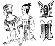 1820s-1840s Corded Stay. By Past Patterns #001, 19th Century