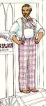 Classic Plain-Cut Summer Trousers Mid 19th Century. By Past Patterns #014