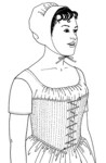 A ''Transition Stay'' Fashionable Circa 1796-1806. By Past Patterns #30, 19th Century