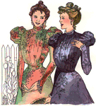 1890s Side Closing Bodices by Past Patterns. #207, 19th Century