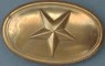 Texas (Star) Oval Lead Filled Buckle, Civil War Enlisted