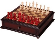 Chess Set with storage box and board, copy of 1795 Calvert