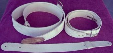 Dragoon Sabre Belt, Regulation White Buff Leather
