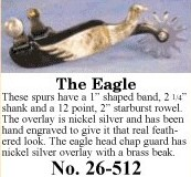 The Eagle Spurs, by Colorado Saddlery