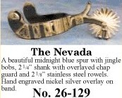 The Nevada Spurs, by Colorado Saddlery
