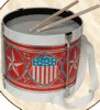 Child's Toy Americana Lithographed Toy Drum (1800s/19th Century)