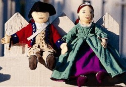 Netsey Doll and William Doll, Colonial dressed