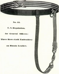 General Officer's Dress Sabre Belt from Schuyler Hartley Graham Catalog