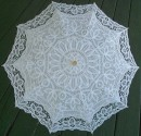 Ladies Battenberg / Battenburg Lace Parasol, All Lace Top
