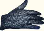 Ladies crochet gloves, black