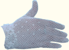 Ladies crochet gloves, white