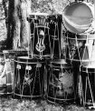 drums and percussion: bass drums, snare drums